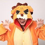Kigurumi plišana pidžama Lav Onesie pidžama Kostim Coral runo žuta Cosplay Za Zivotinja Odjeća Za Apavanje Crtani film Noć vještica