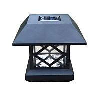 白い太陽ポストキャップライトデッキのフェンスは、屋外の庭のフェンスランプを搭載
