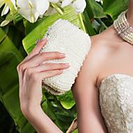 Vrouw Tassen Metaal Avondtasje Imitatieparel Kristal/Strass voor Evenement/Feest Wit Zwart Lichtbruin