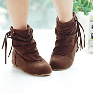 cheap Fashion Boots-Women's Suede Fall / Winter Wedge Heel Booties / Ankle Boots Brown / Beige / Yellow