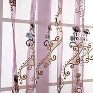 billige Gardiner ogdraperinger-Et panel Window Treatment Land Ensfarget Soverom Materiale Gardiner Skygge Hjem Dekor