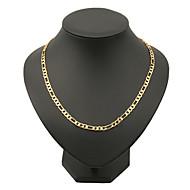 Herrn Figaro Kette Ketten vergoldet Klassisch Hip-Hop Golden Modische Halsketten Schmuck Für Weihnachts Geschenke Party Alltag