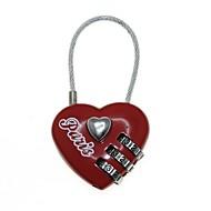 3-cijferig combinatie wachtwoord hart lock (code: 000)