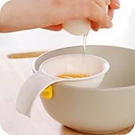 mini eggeplomme hvit separator med silikon holder kjøkken verktøy egg skillelinjen