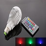 billige Spotlys med LED-1pc 10 W 800 lm E26 / E27 Smart LED-lampe 1 LED perler Høyeffekts-LED Fjernstyrt / Dekorativ / Fargegradering RGB 85-265 V / RoHs