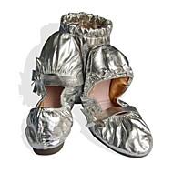 billige Ballettsko-Dame Balett Kunstlær Høye hæler Draperinger Flat hæl Sølv Gull 1 cm Kan ikke spesialtilpasses