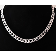 Pánské Geometrické Řetízky Nerez Titanová ocel Jedinečný design Módní Stříbrná Náhrdelníky Šperky Pro Svatební Párty Dar Denní Ležérní