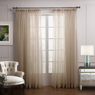 billige Forede Gardiner-To paneler Window Treatment Moderne Soverom Polyester Materiale Gardiner Skygge Hjem Dekor For Vindu