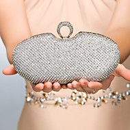 cheap Wedding Bags-Women's Bags Metal Evening Bag Crystal/ Rhinestone for Event/Party Gold Black Silver