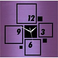 3d nowoczesny styl podłubać akrylowe kwadratowe lustro nowy zegar ścienny
