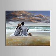 billiga Människomålningar-Hang målad oljemålning HANDMÅLAD - Människor Samtida Duk
