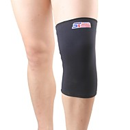 膝用サポーター スポーツサポート 保護 キャンピング&ハイキング / エクササイズ&フィットネス / レーシングボート / サイクリング/自転車 / ウィンタースポーツ / バドミントン / フィッシング / チームスポーツ / スノースポーツ 黒フェード