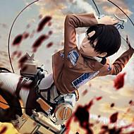 Ispirato da Attack on Titan Levy Anime Costumi Cosplay Abiti Cosplay Tinta unita Manica lunga Foulard / Cappotto / Maglietta Per Per uomo / Per donna