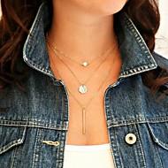 moda shixin® (círculo, i) liga pérola pequena colar de pingente (dourado) (1 pc)