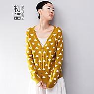 toyouth ® vrouwen drukte lange mouwen show dunne trui