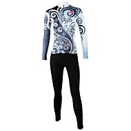 ILPALADINO Žene Dugih rukava Biciklistička majica s tajicama Bicikl Kompleti odjeće, Quick dry, Prozračnost