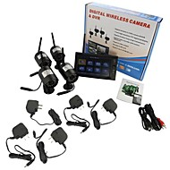 """cheap -7"""" LCD Wireless  Monitor 4 Channel Quad Security System DVR With 4 Cameras"""