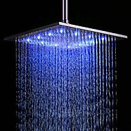 cheap Shower Heads-Contemporary Rain Shower Brushed Feature - Rainfall LED, Shower Head
