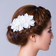 cheap Wedding Headpieces-Cubic Zirconia Fabric Flowers Hair Pin Headpiece Elegant Style