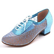 billige Moderne sko-Dame Moderne sko / Ballett Blonder / Paljett Høye hæler Paljett Lav hæl Kan ikke spesialtilpasses Dansesko Lilla / Lyseblå / Kongeblå