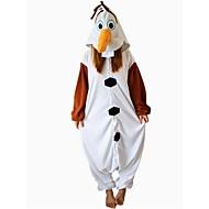 Pijamas Kigurumi Boneco de neve Pijamas Macacão Ocasiões Especiais Lã Polar Marron Cosplay Para Pijamas Animais desenho animado Dia das