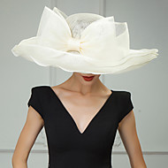 Flax Kentucky Derby Hat / Hats / Headwear with Floral 1pc Wedding / Special Occasion / Casual Headpiece