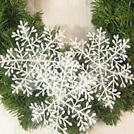15PCS Christmas Decoration White Snowflake Ornaments 22CM