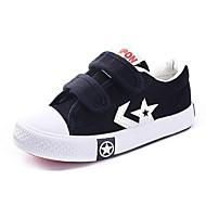 baratos Sapatos Masculinos-Para Meninos / Para Meninas-Tênis-Chinelo / Conforto-Rasteiro-Preto / Azul / Vermelho / Branco-Lona / Couro de Gado-Ar-Livre / Casual /