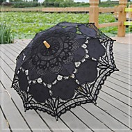 "cheap Wedding Umbrellas-Wedding / Beach / Daily / Masquerade Lace / Cotton Umbrella 26""(Approx.66cm) Metal / Wood 30.7""(Approx.78cm)"