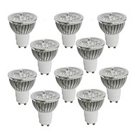 4W GU10 Żarówki punktowe LED 4 Diody lED High Power LED Ciepła biel Zimna biel Naturalna biel 350-400lm 2800-3000/4000-4500/6000-6500K AC