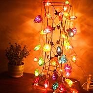 お買い得  LEDライトストリップ-jiawen®4m 20leds rgb装飾用のハート型文字列ライトストリングライト(AC 110-220v)