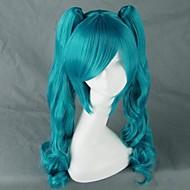 Vocaloid Hatsune Miku Mujer 30 pulgada Fibra resistente al calor Animé Pelucas de Cosplay