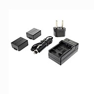 Ismartdigi-Panasonic BLB13E x2 (1300mAh,7.2V)Camera Battery+EU Plug+Car Charger For DMC-G1/GH1/GF1/G10/G2