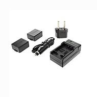 ismartdigi-panasonic BLB13E x2 (1300mAh, 7,2 V) camera batterij + eu stekker + autolader voor de DMC-G1 / GH1 / GF1 / G10 / g2