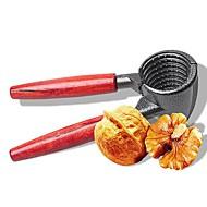 baratos Utensílios de Fruta e Vegetais-cabo de madeira núcleo duro ferramentas de biscoitos abridor de cozinha rápida biscoito da porca de metal noz sheller alicate
