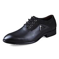 Herre sko Lær Vår Høst Vinter Komfort Oxfords Til Avslappet Gyldenbrun Svart Brun