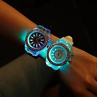 Dámské Módní hodinky Křemenný LED Silikon Kapela Třpyt Černá Bílá