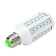 E26/E27 LED-spotpærer LED-globepærer LED-kornpærer T 60 leds SMD 5730 Varm hvit 1000-1200lm 3000-3500K AC 220-240V