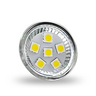 4W GU4(MR11) Lâmpadas de Foco de LED MR11 6 leds SMD 5050 Decorativa Branco Frio 350lm 6000-6500K DC 12V