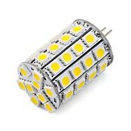 billige Bi-pin lamper med LED-1pc 4.5 W 452 lm G4 LED-spotpærer 49 LED perler SMD 5050 Dekorativ Varm hvit / Kjølig hvit 12 V / 24 V / RoHs