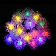 白い虹の暖かい白い毛皮のボール太陽ランプと20 led