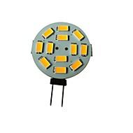 1.5w g4 led spotlight 12 smd 5630 100-150lm varm hvit 3000-3200k dc 12v