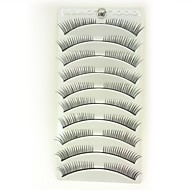 10Pcs Black Fiber False Eyelashes Cosmetic Beauty Care Makeup for Face