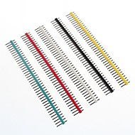Multicolor 40-Pin 2.54mm Pitch Pin Headers (10 PCS)