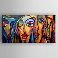 Hand-Painted Abstract Horizontal Panoramic,Classic Traditional One Panel Oil Painting For Home Decoration