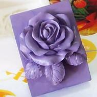 花の形のフォンダンケーキチョコレートシリコーン型のケーキのデコレーションツールをバラ、l9.3cm * w9cm * h3.8cm