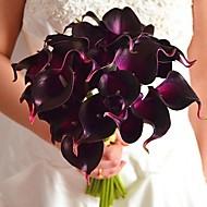 Bouquets de Noiva Redondo / Forma-Livre Buquês CasamentoAzul / Amarelo / Rosa / Vermelho / Verde / Branco / Roxo / Laranja / Borgonha /