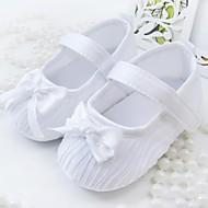 billige Skosalg-Jente Baby Flate sko Tekstil Vår Høst Avslappet Formell Sløyfe Flat hæl Hvit Rosa Flat