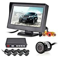 12v 4 parkeringssensorer LCD display skærm kamera video bil vende backup radarsystem kit buzzer alarm