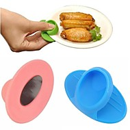 billige Bakeredskap-mikrobølgeovn votter kjøkken matlaging silikon sklisikker isolert hanske tilfeldig farge